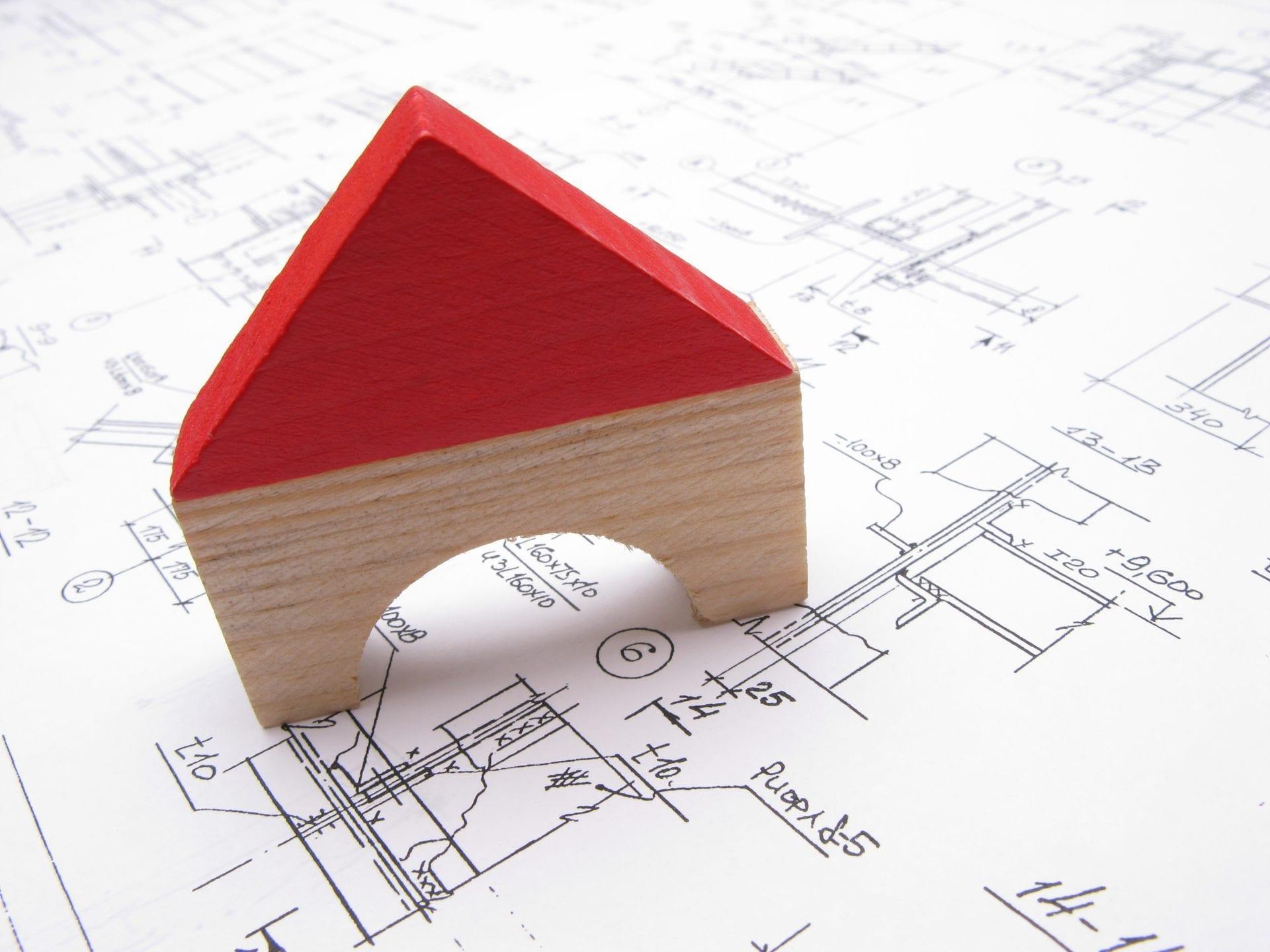 Hus och ritning