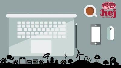 Reklam för Digitala hjälpen, dator, surfplattor och smartphones