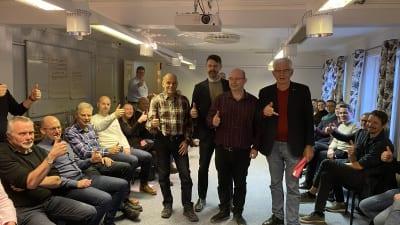 Styrgruppen och övriga deltagare i startmöte för särskilda boendet Prästgärdet.