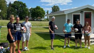 Ny footgolfbana i Säter iordningsställd av sommarjobbare