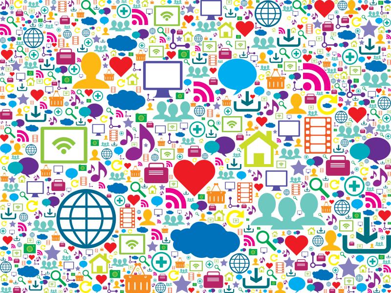 olika symboler för kommunikation