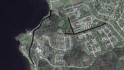 Avstängningar av väg-cykelvägar